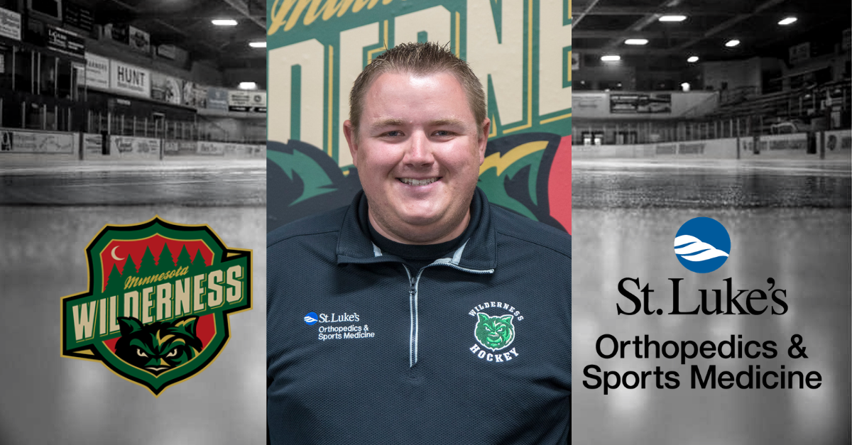 Minnesota Wilderness Appreciate St. Luke's Athletic Trainer Jarrett Byrnes for Dedication to Wilderness Hockey
