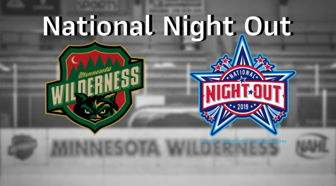 Minnesota Wilderness Hockey Players Volunteer for Cloquet Police Night Out