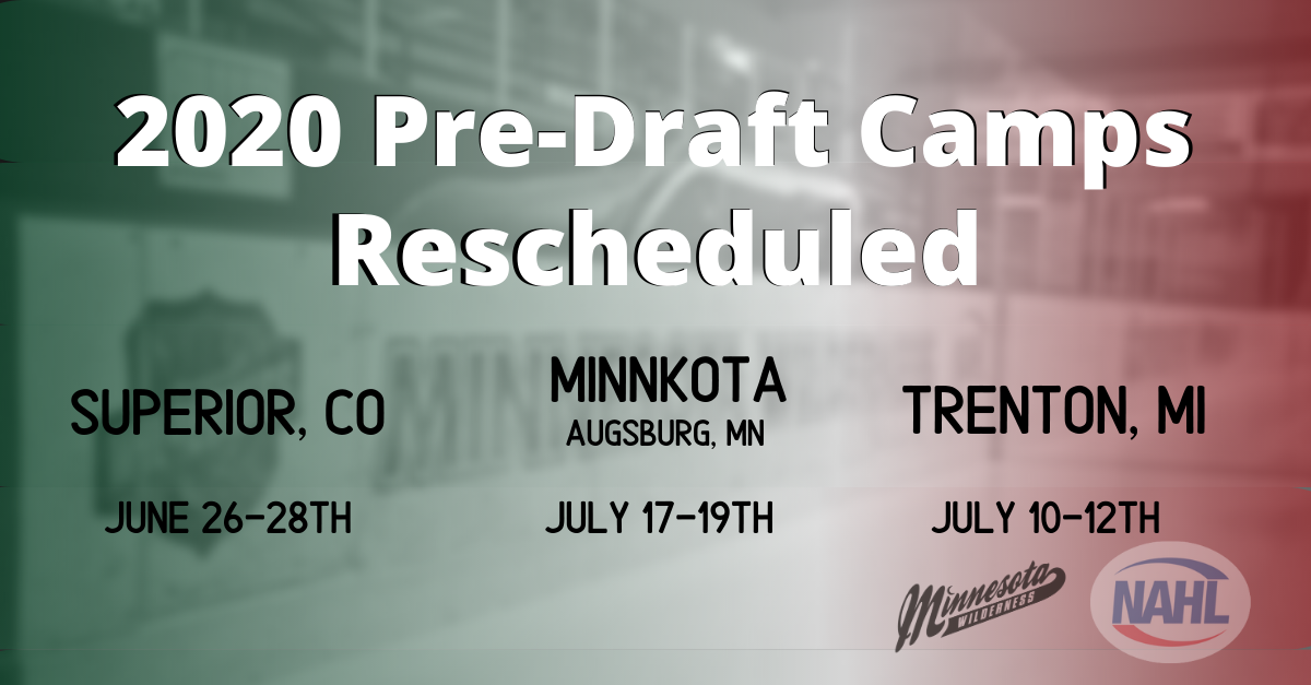 2020 Pre Draft NAHL Camps Rescheduled Due to COVID 19